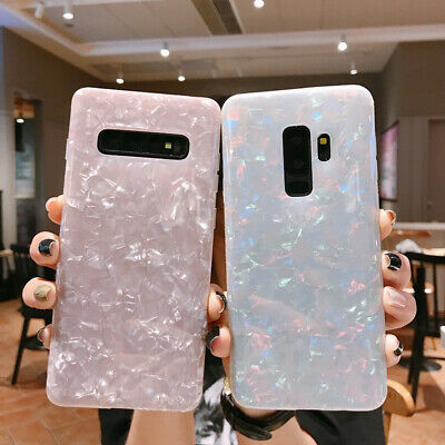 $ CDN4.65 • Buy For Samsung Galaxy S20 S10 S9 S8 Plus Marble Glitter Rubber Soft TPU Case Cover