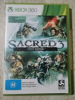 AU14 • Buy XBOX 360 GAME, SACRED 3, First Edition, Complete