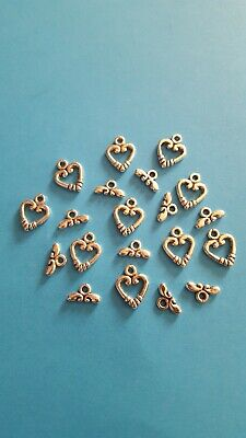 10x Tibetan Silver Heart Toggle Link Clasps Findings For DIY Jewellery Making. • 1.99£