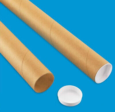 $13.88 • Buy 2 Mailing Tubes With End Caps (2  X 24 ) Shipping Poster Artwork Print Packing