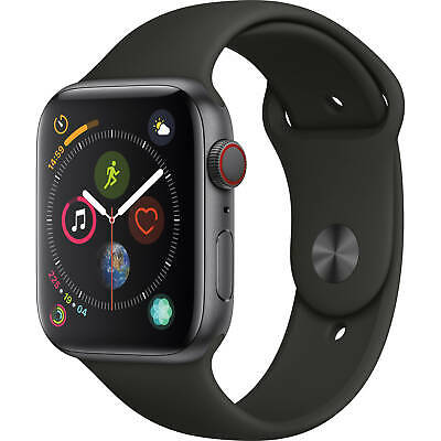 $ CDN602.24 • Buy Apple Watch Series 4 44mm GPS And Cellular SpaceGray Black Sport Band MTUW2LL/A