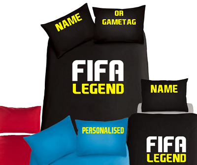 FIFA 18 19 20 LEGEND Personalised  Bedding Set, Duvet Xbox PS4 Gaming Football  • 31.99£