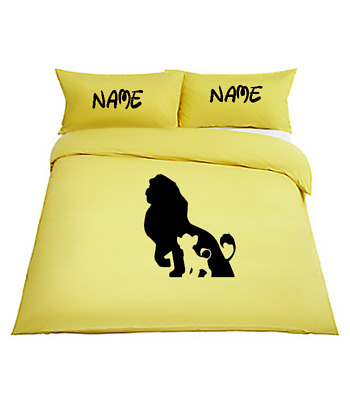 THE LION KING Personalised YELLOW Bedding Duvet Cover Single Or Double • 34.99£