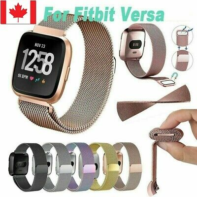 $ CDN9.99 • Buy New Replacement For Fitbit Versa Watch Band Wrist Stainless Steel Metal Strap CA