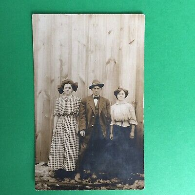 $5.04 • Buy Ma And Paw Family Portrait RPPC Real Photo Postcard