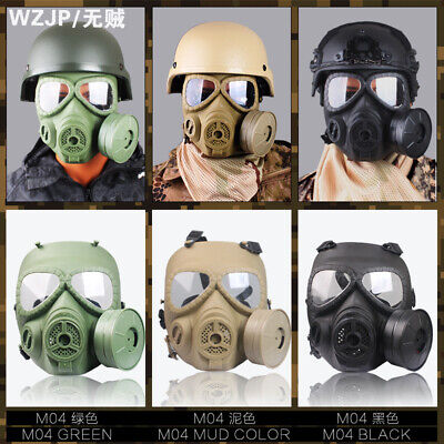 $36.26 • Buy Military Practical Mask Helmet Cosplay Wargame Fan Safety Gas Mask Tactical M04