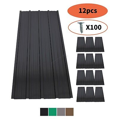 £63.99 • Buy BIRCHTREE 12X Roof Sheets Corrugated Garage Shed Metal Roofing Carport 129x45cm