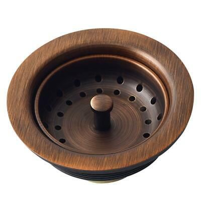 $44.99 • Buy Kitchen Sink Strainer 3.5 In. Antique Copper Drain With Post Styled Basket NEW