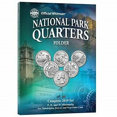 $ CDN11.35 • Buy New Whitman Folder For Collection Of US National Park Quarters 2019 P D + W
