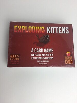 AU20.34 • Buy (NEW & SEALED) Exploding Kittens Cats Original Card Games Edition - Family Game!