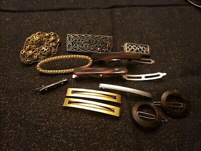 $9.60 • Buy Lot Of 12 Vintage Barrette Hair Clips Mostly Made In France, Goody+