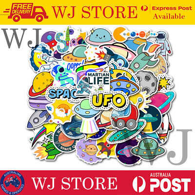 AU5.99 • Buy 50pcs Outer Space INS Style VSCO Vinyl Decal Stickers Laptop Waterproof Phone