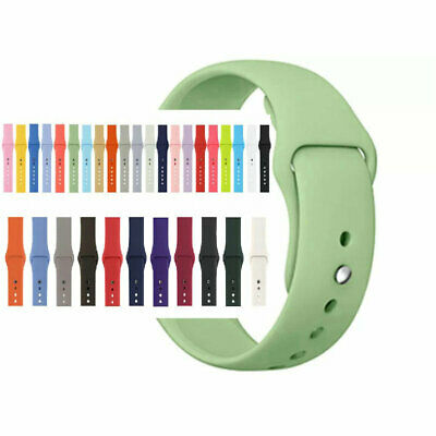 $ CDN3.26 • Buy Replacement Silicone Sport Band Strap For Apple Watch Series 5 3 4 38/40/42/44mm