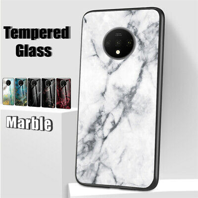 AU7.54 • Buy For OnePlus 7T Pro 6T 5T Marble Tempered Glass Back Case Slim TPU Hybrid Cover