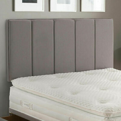 Linen Headboard Vertical Panel 26inch Height Upholstered Fabric Wall Bed Head • 39.96£