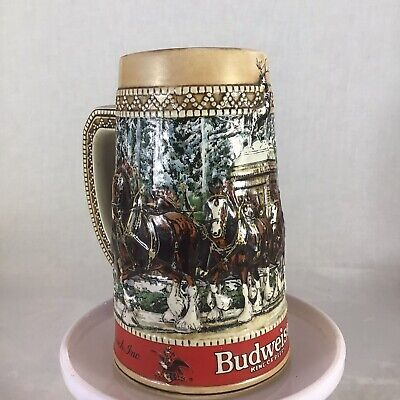 $ CDN23.37 • Buy 1987 Budweiser Holiday SteinClydesdales  C  Series