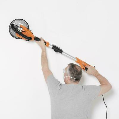Telescopic Drywall Sander Extendable Pole Plasterboard Dust Extraction LED Light • 112.75£