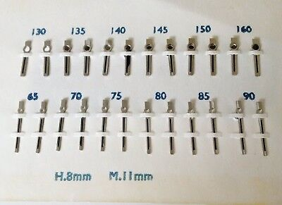 $ CDN23.95 • Buy VINTAGE WATCH HANDS SILVER W/BLACK    - 12 Pairs( Hour 8mm X  Minute 11mm )
