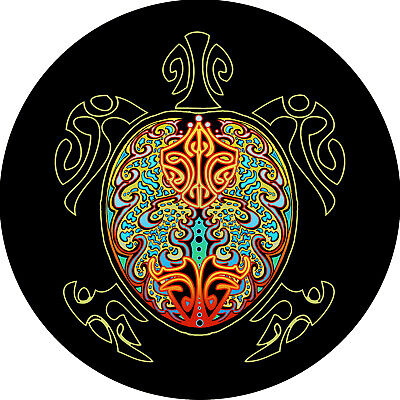 $ CDN93.09 • Buy Turtle Multi Color Spare Tire Cover Fits Jeep, Campers, Centered Backup Camera