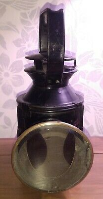 Vintage BR(M)British Rail Hand Signal Oil Lamp Railway Guards Lamp Tri-colour • 65£