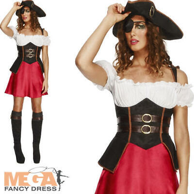 Fever Pirate Wench Ladies Fancy Dress Sexy Adults Carribean Costume Outfit New • 25.99£