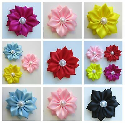 Self Adhesive Satin Ribbon Flowers Bow Sewing Decorations Craft 60 Mm Wedding UK • 2.50£