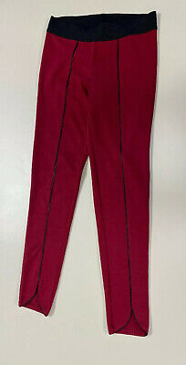 $8 • Buy Freestyle Revolution Womens Maroon Black Stretchy Skinny Pant Sz M