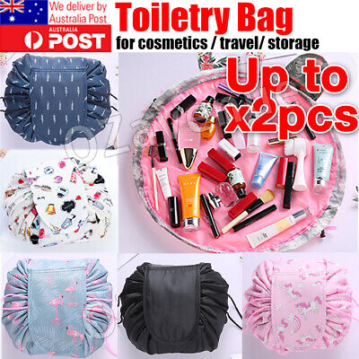 AU6.89 • Buy 2x Travel Cosmetic Make Up Bag Organiser Wash Small Drawstring Pouch Beauty Case