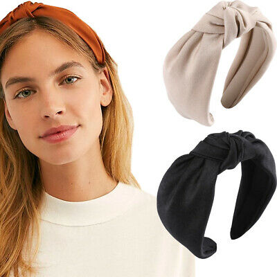 $3.24 • Buy Women's Knot Headband Tie Hairband Plain Wide Hair Band Hoop Accessories Casual