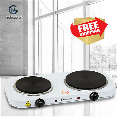 £26.95 • Buy Electric Portable Hot Plate Cooking Cooker Boiling Ring Hob Stove Double 2500W