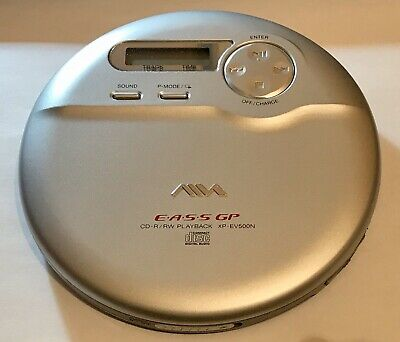 Used Aiwa Portable Stereo CD Player Jog Proof EASS Electronic Anti-Shock System. • 29.99£