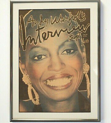 $115 • Buy Framed Andy Warhol Interview Magazine Cover Sept '76 Orig Issue. Plus Magazine