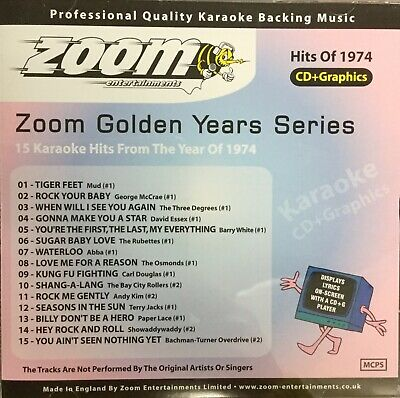 £6.99 • Buy Zoom Golden Years CDG Disc- Karaoke Hits From The Year 1974
