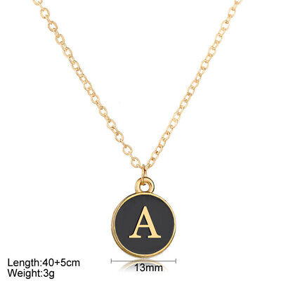 £2.99 • Buy Personalised Initial Letter Alphabet A - Z Pendant Necklace GIFT Xmas ROUND