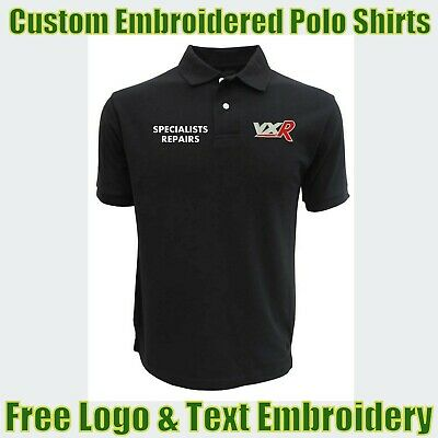 £15.99 • Buy NEW Custom Embroidered Polo Shirt With Logo Garage & Technicians Names Work Wear