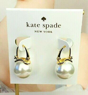 $ CDN20.04 • Buy KATE SPADE CLASSIC PEARL STUD EARRINGS White/Gold