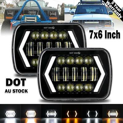 AU78.59 • Buy Pair 5x7'' 7x6'' LED Headlights W/ DRL For 88-97 Toyota Hilux Pickup Jeep YJ XJ