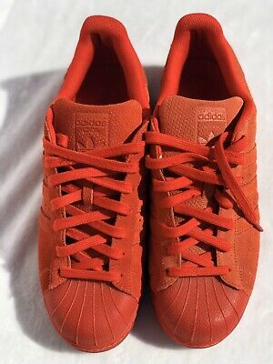 $ CDN26.74 • Buy Adidas Superstar Athletic Sneakers Shoes Red Full Suede S79475 Sz 10 1/2