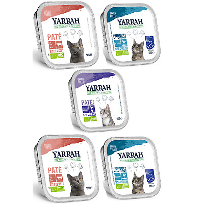 Yarrah Pate Complete Cat Food Organic Pate Nutrition 100g Fish Chicken Healthy  • 9.99£