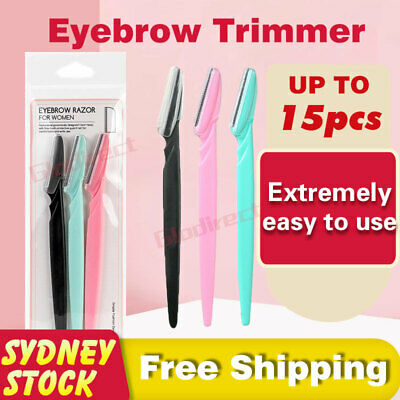AU13.45 • Buy Eyebrow Razor Trimmer Shaver Facial Blade Shave Shaper Hair Remover Women Eye AU