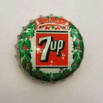 AU248.68 • Buy 7up Christmas Wreath Cork Lined Bottle Cap SUPER RARE ! 7 Up Can't Find Another!
