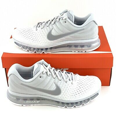 $109.99 • Buy Nike Air Max 2017 Pure Platinum Men's Size 9 Running Shoes 849559 009 White Wolf