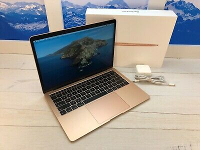 "$901.55 • Buy Apple MacBook Air Touch ID 2018 13"" Laptop 256GB 8GB RAM Gold W/Box Uf9"