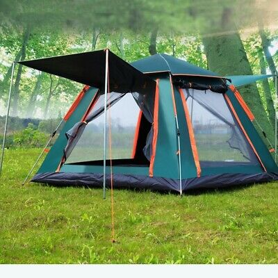 AU116.10 • Buy AU 8 Person Family Camping Tent Hiking Beach Canvas Swag Dome Waterproof 2 Doors