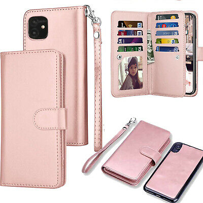 AU23.74 • Buy For IPhone 11 Pro Max Magnetic Leather Removable Wallet Card Case F Women/Girls