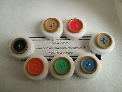 Childrens Buttons Rim Dish Buttons 4 Hole Novelty In Various Colours And Sizes • 2.99£