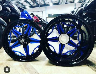 $3999.99 • Buy BLACK AND BLUE 330 SPEED STAR WHEELS FOR 2001-2004 Suzuki GSXR 1000