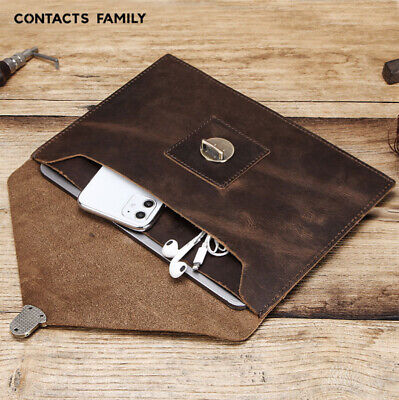 $29.99 • Buy Genuine Wrist Buckle Leather Envelope Bag Case Cover For Apple IPad Pro10.2 10.5