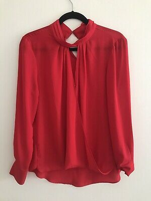 AU12.50 • Buy Witchery Red Blouse 10