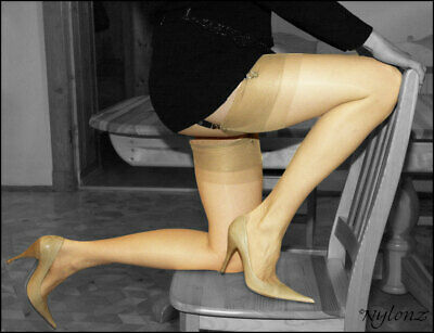 £9.95 • Buy GIO RHT Stockings / Nylons - NATURAL - Imperfects NYLONZ